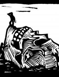 Sérigraphie de Marc Brunier Mestas, 32x32 cm