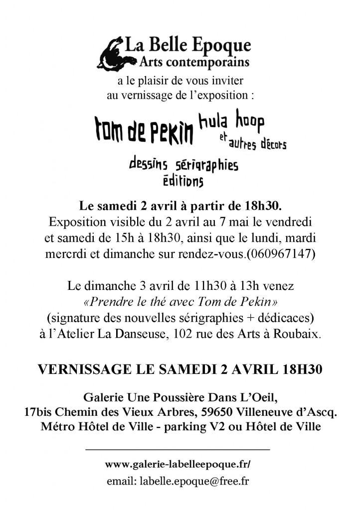 invitation Tom de Pekin