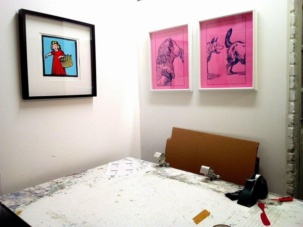 Vue de l'atelier, Marc Brunier Mestas, Benjamin Monti.